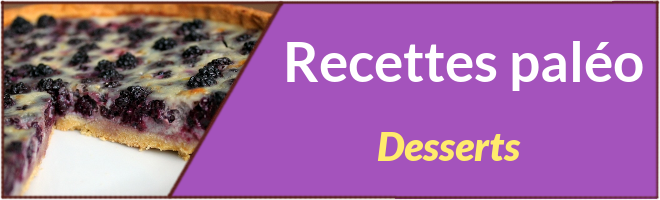 Recette paléo desserts