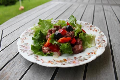 Salade paléo aux gésiers de volaille