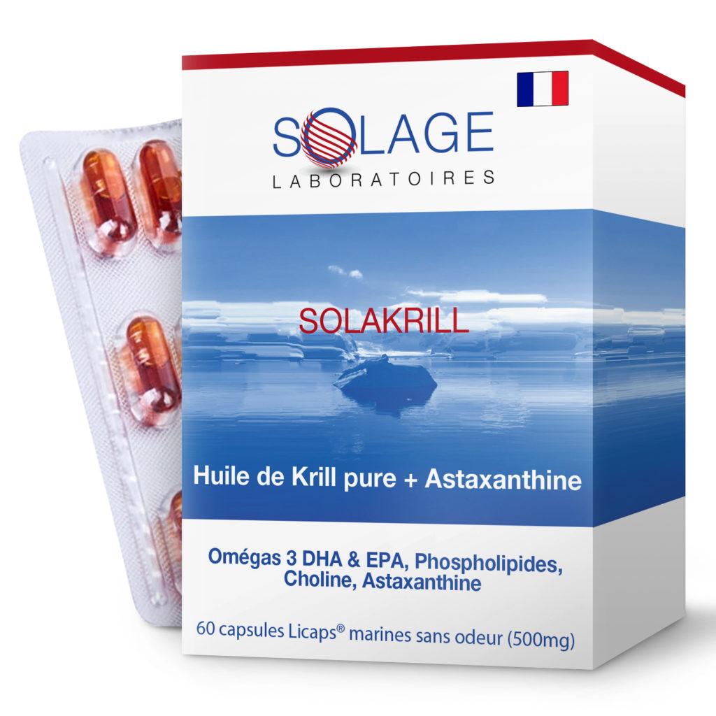 Huile de Krill française SOLAKRILL Laboratoires Solage